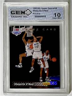 1 st SHAQUILLE ONEAL 1992 Gem 10 Rookie Basketball