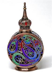 European Inspired Enameled & Jeweled Perfume Bottle