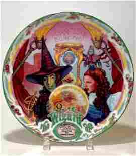 WIZARD of OZ Porcelain Music Box Decorative Plate