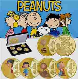 70 Years of Peanuts / Snoopy Clad Gold Coin Set w/COA