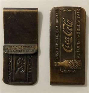 Tiffany 1904 St Louis Worlds Fair Coca-Cola Money Clip