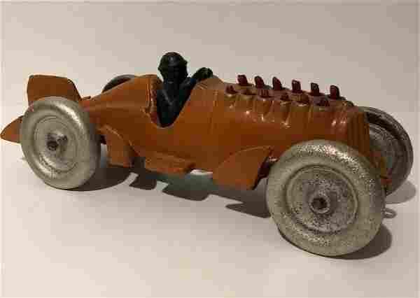 Signed HUBLEY Cast Iron Mechanical Piston Toy Race Car