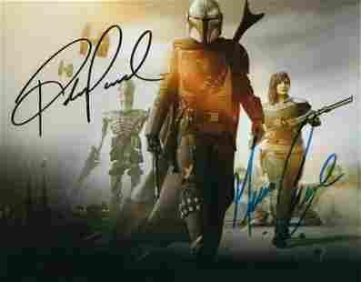 Star Wars The MANDALORIAN 8 x 10 Cast Signed Photograph