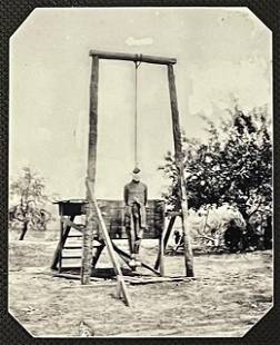 Macabre Civil War Tin Type Photo of Soldier Execution