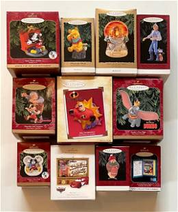 Lot of 11 DISNEY Keepsake Christmas Ornaments - Group A