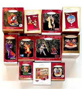 Lot of 11 DISNEY Keepsake Christmas Ornaments - Group C