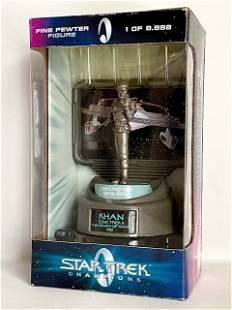 Rare LTD Edition Star Trek KHAN Pewter Collector Figure