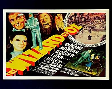 The WIZARD OF OZ Theatre Lobby Movie Poster