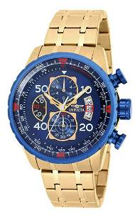 INVICTA Aviator Gold tone Mens Watch / New in Box