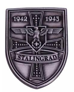 Dated 1942-1943 WW2 Stalingrad Uniform Lapel Pin