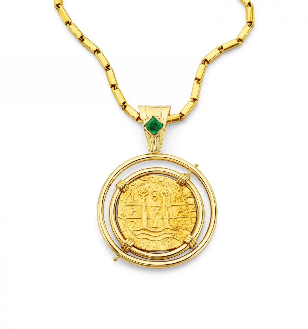 Gold Coin Pendant - 2