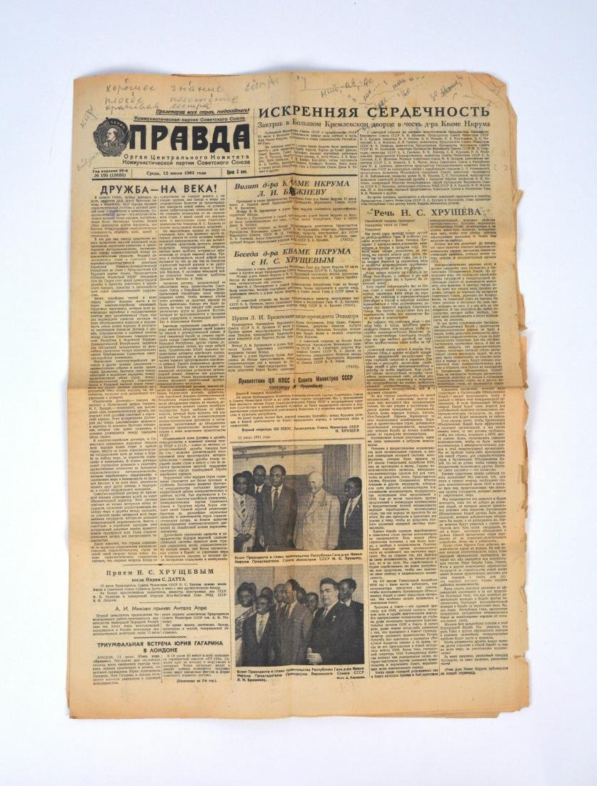 Francis G. Powers Prison Newspaper with Russian Notes