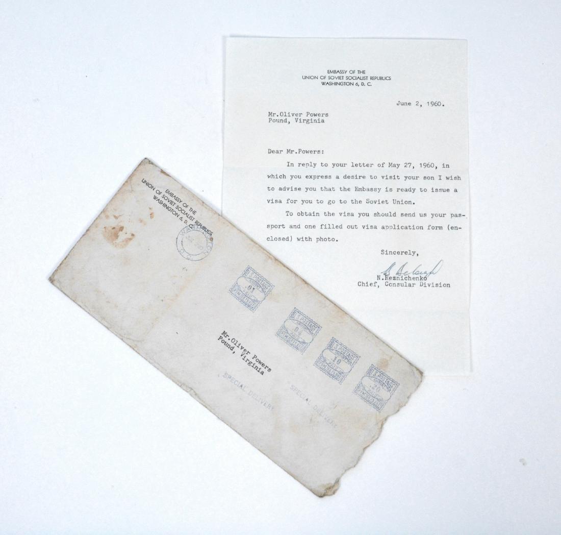 Soviet Embassy Letter Addressed to Mr. Oliver Powers