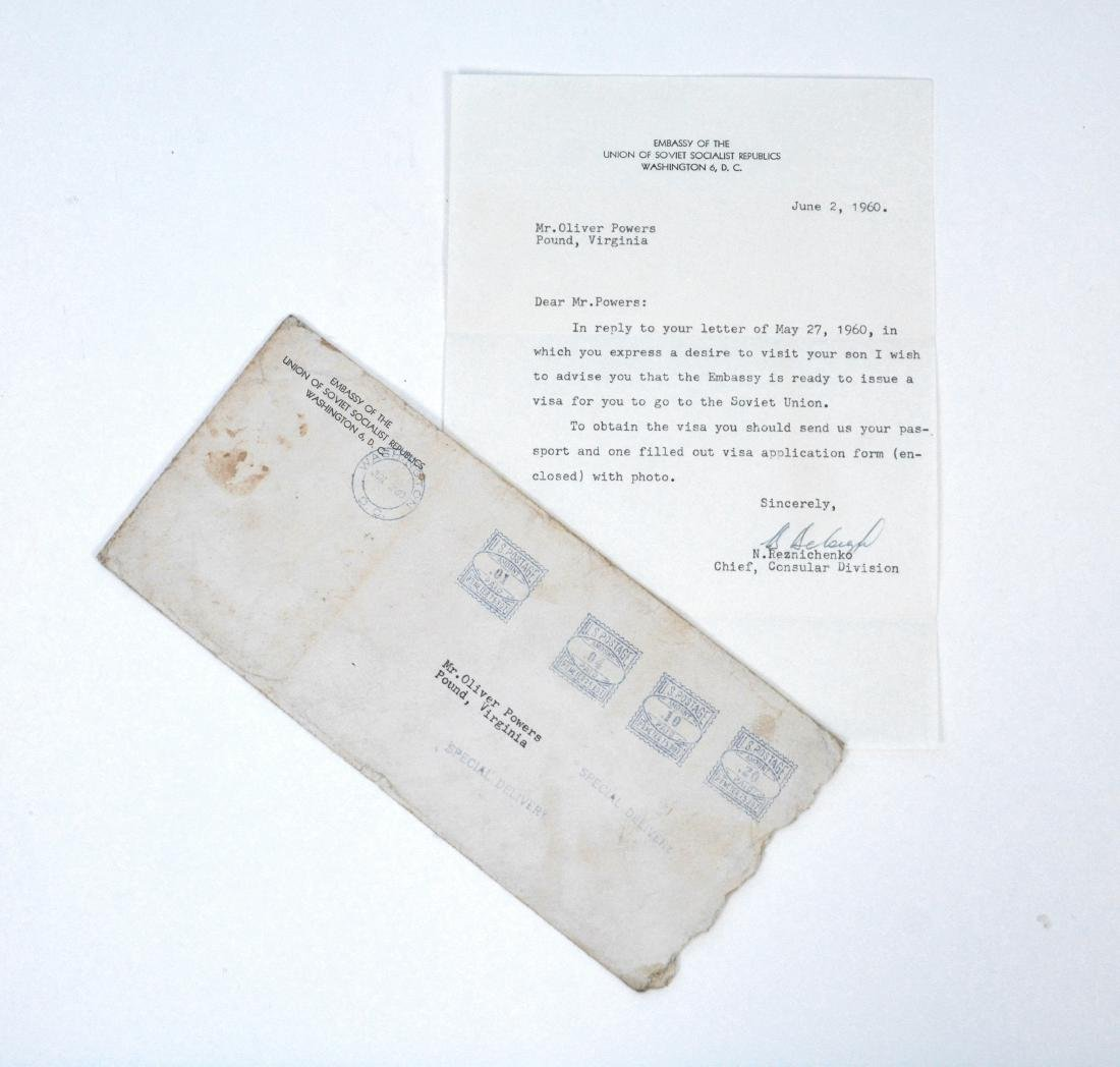 Soviet Embassy Letter Addressed to Mr. Oliver Powers
