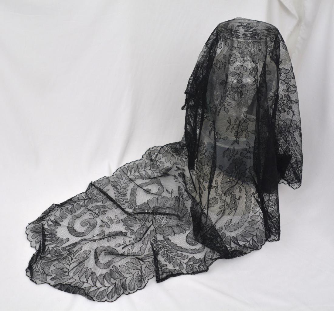 Jacqueline Kennedy's Black Lace Mantilla