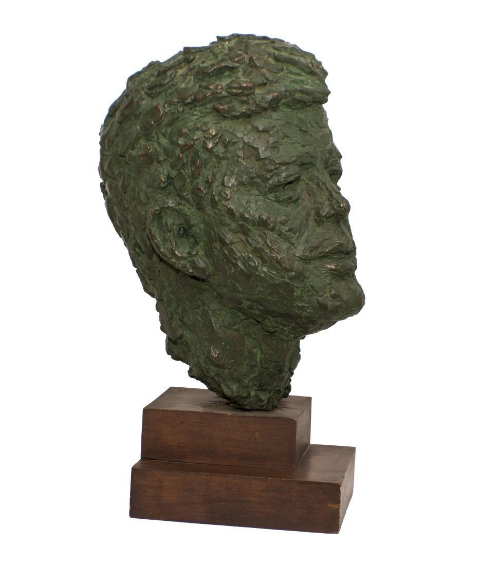 Robert Berks Heroic Bronze Bust of JFK