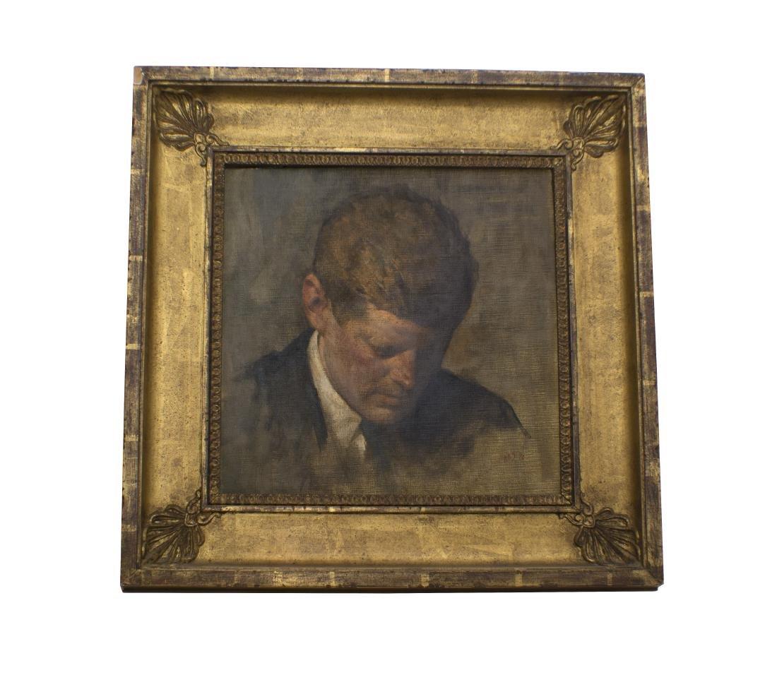 Aaron Shikler, Portrait of Pres John F Kennedy