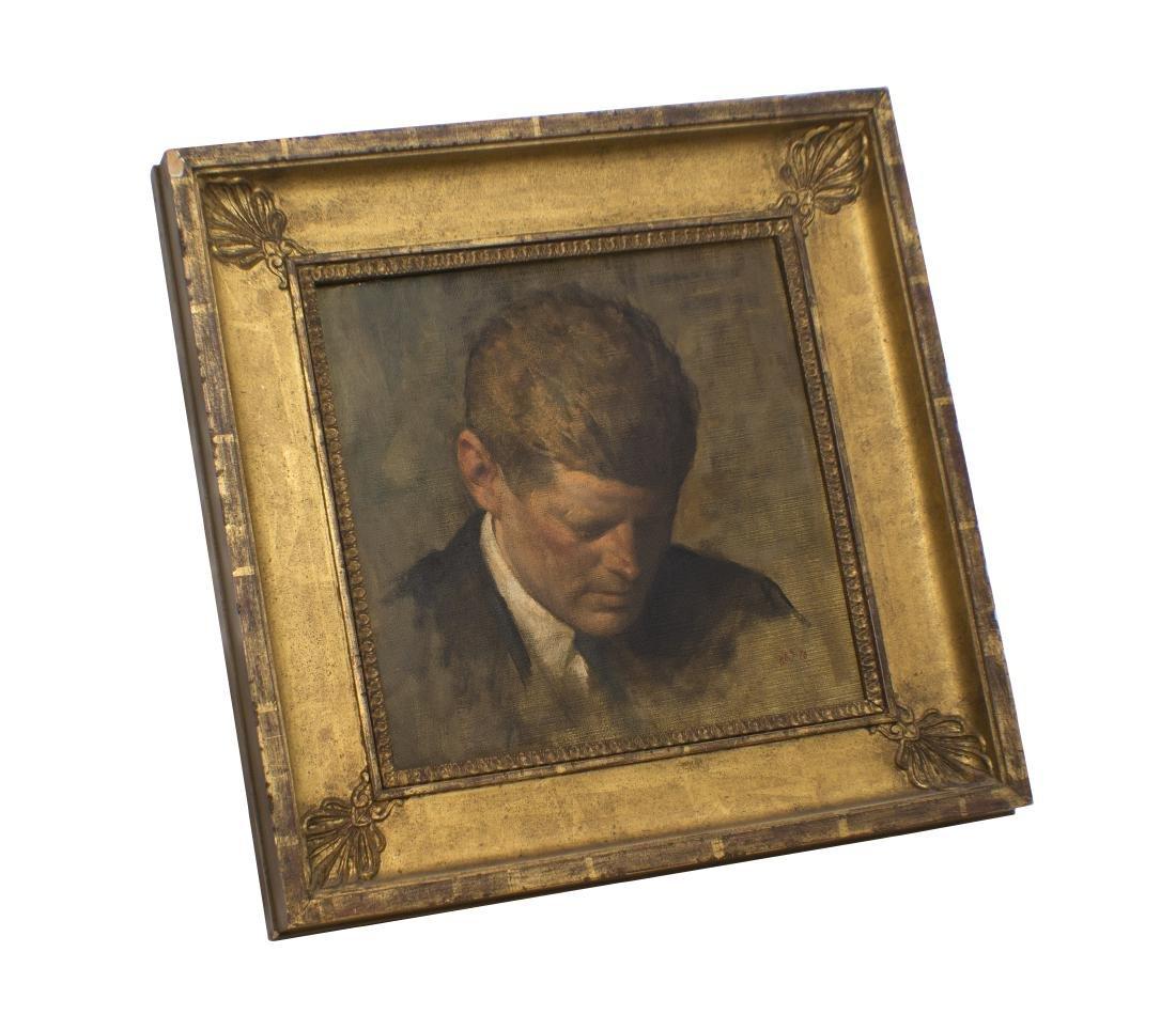 Aaron Shikler, Portrait of Pres John F Kennedy - 2