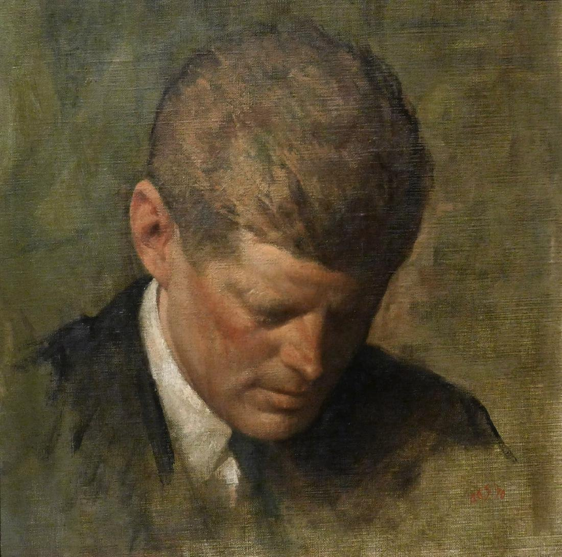 Aaron Shikler, Portrait of Pres John F Kennedy - 3