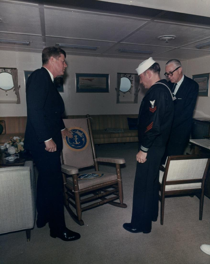 John F. Kennedy & Lyndon Johnson Rocking Chair - 5