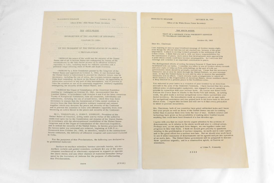 Text of Kennedy/Khrushchev Message and Cuba/Weapons