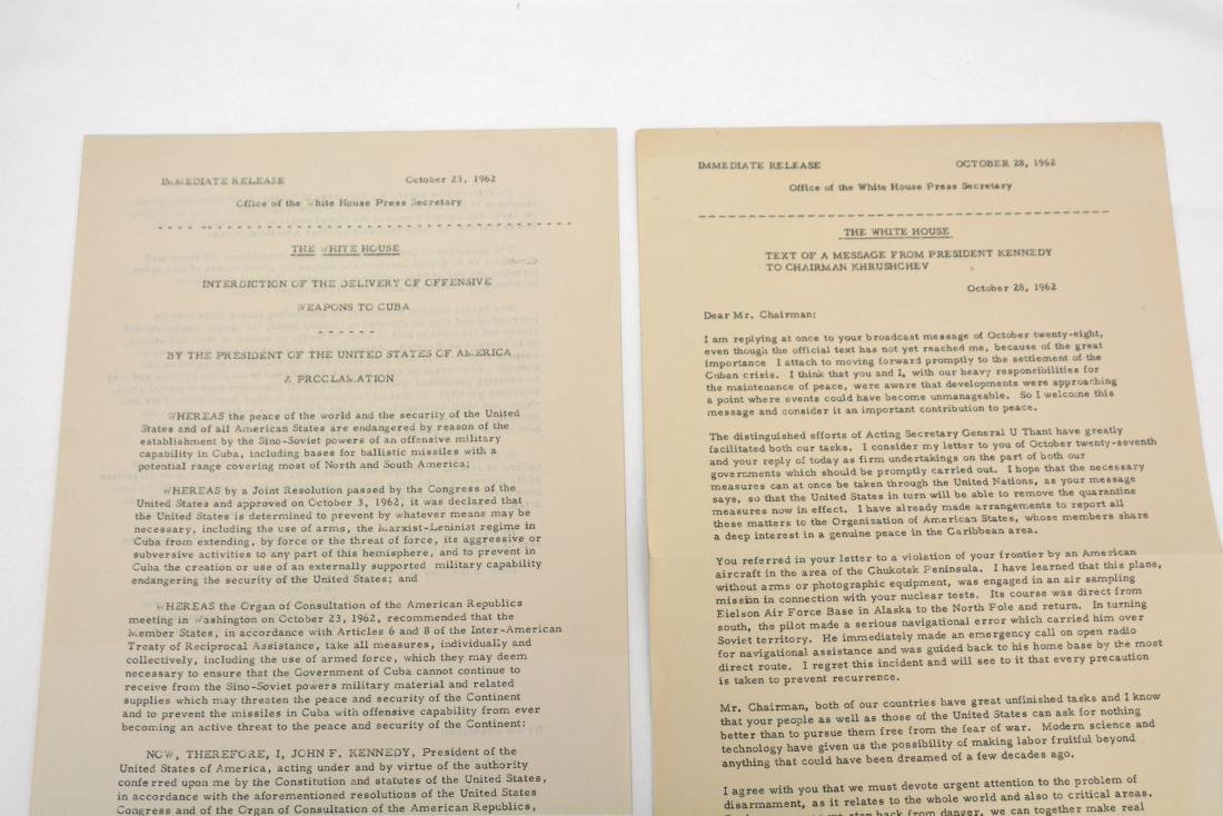 Text of Kennedy/Khrushchev Message and Cuba/Weapons - 2