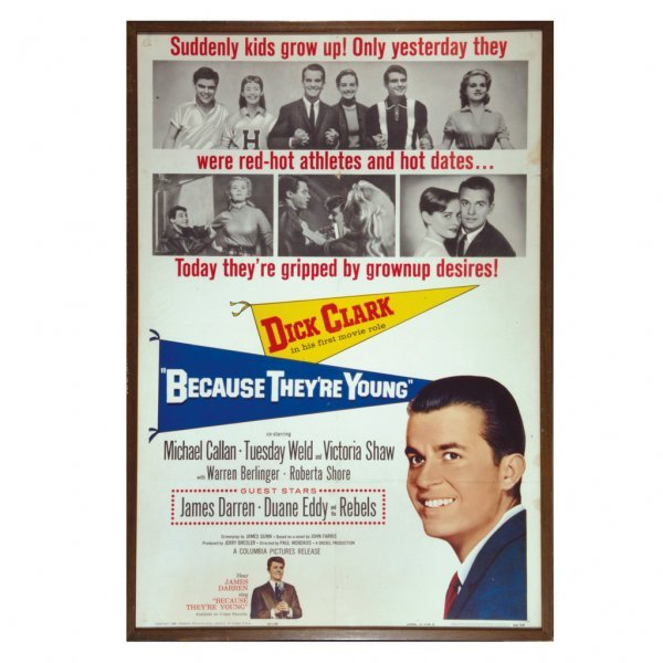 """3: """"Because They Were Young"""" Vintage Movie Posters"""