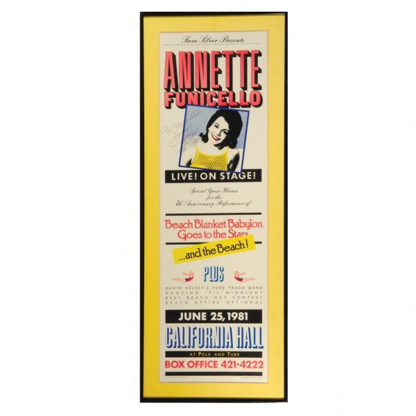 18: Annette Funicello Autographed Poster