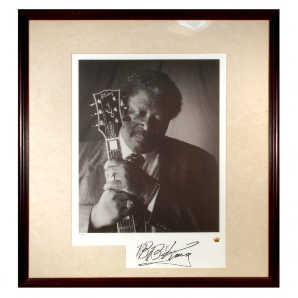 20: King Autographed Photographic Lithograph