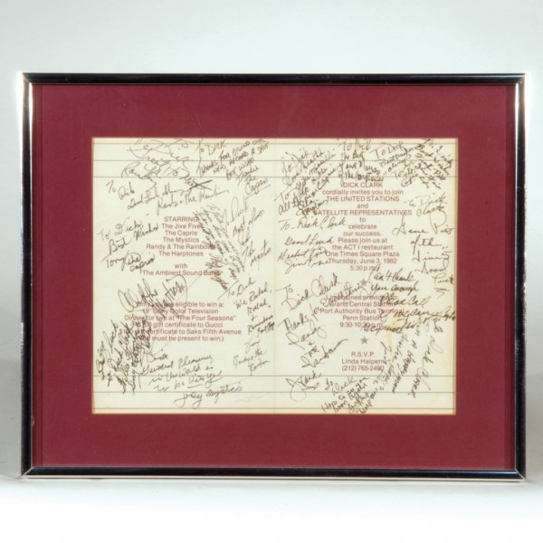 23: Invitation Signed by Doo Wop Stars
