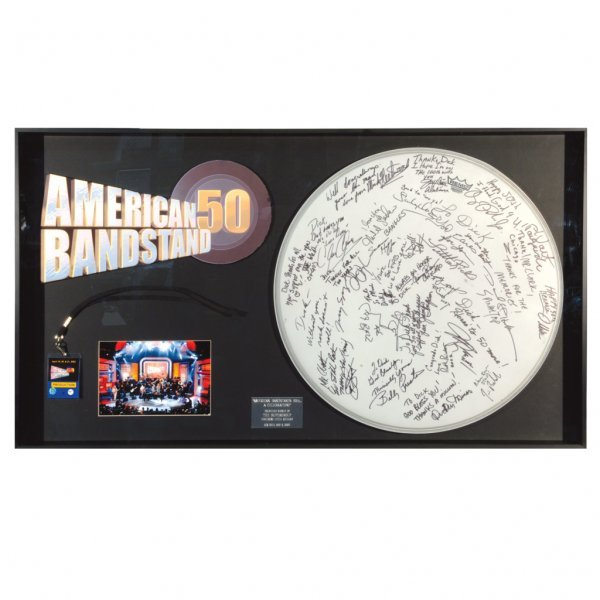 24: American Bandstand Signed Drumhead Display