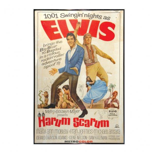 """263: Elvis """"Harum Scarum"""" Movie One Sheet"""