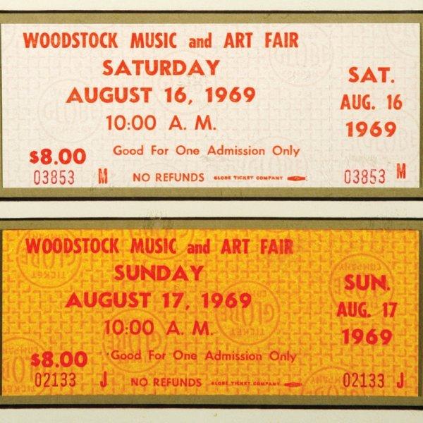 439: Framed Original Woodstock Tickets - 2