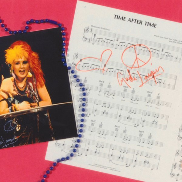 "514: Cyndi Lauper Auto. ""Time After Time"" Sheet Music - 2"