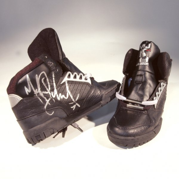 561: Michael Jackson Autographed LA Gear Sneakers
