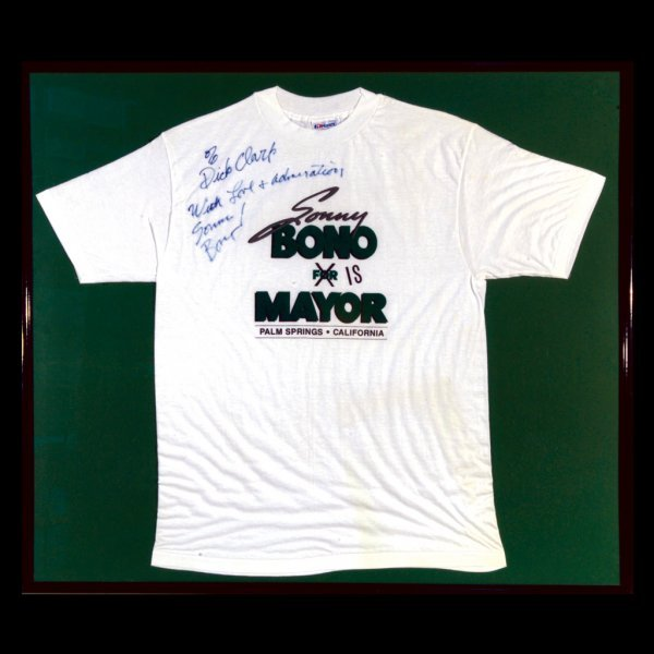 598: Mayor Sonny Bono Autographed T-shirt