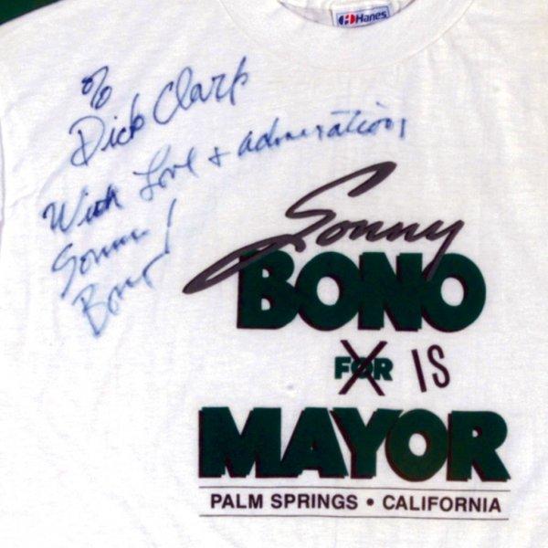 598: Mayor Sonny Bono Autographed T-shirt - 2