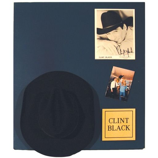 545B: Clint Black Cowboy Hat Display