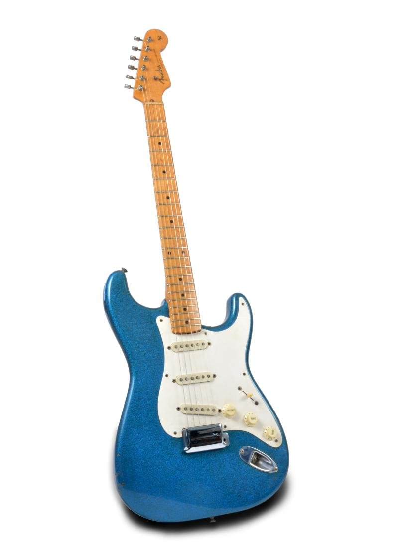 1959 Stratocaster, rare blue sparkle, with amp & more - 2