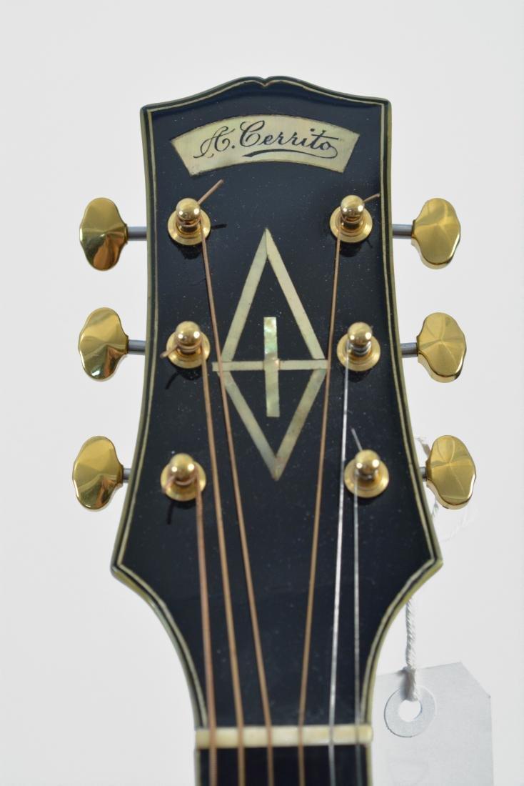 20th c. Unique Antonio Cerrito Archtop Guitar - 4