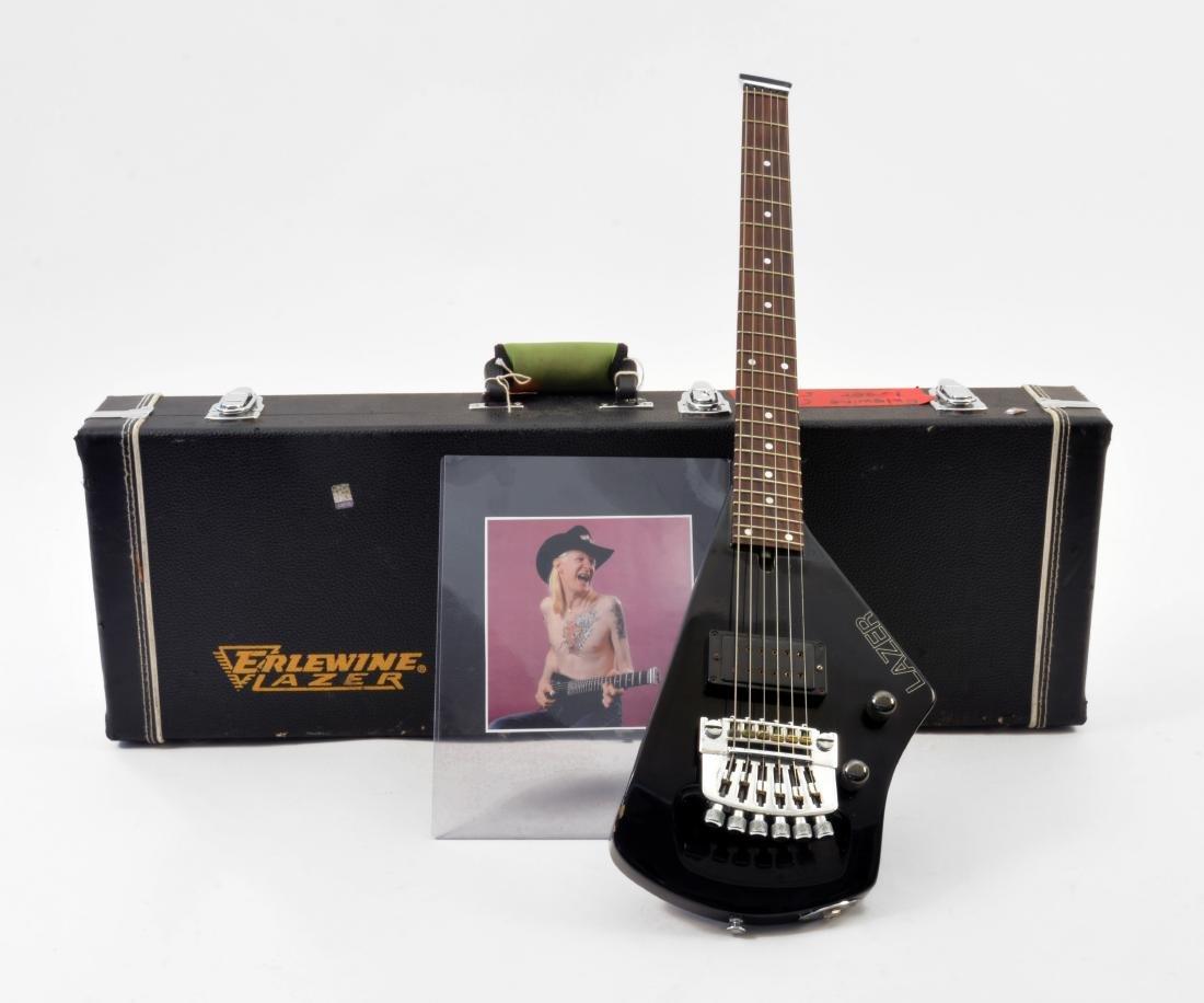 Johnny Winter Black Erlewine Lazer Guitar