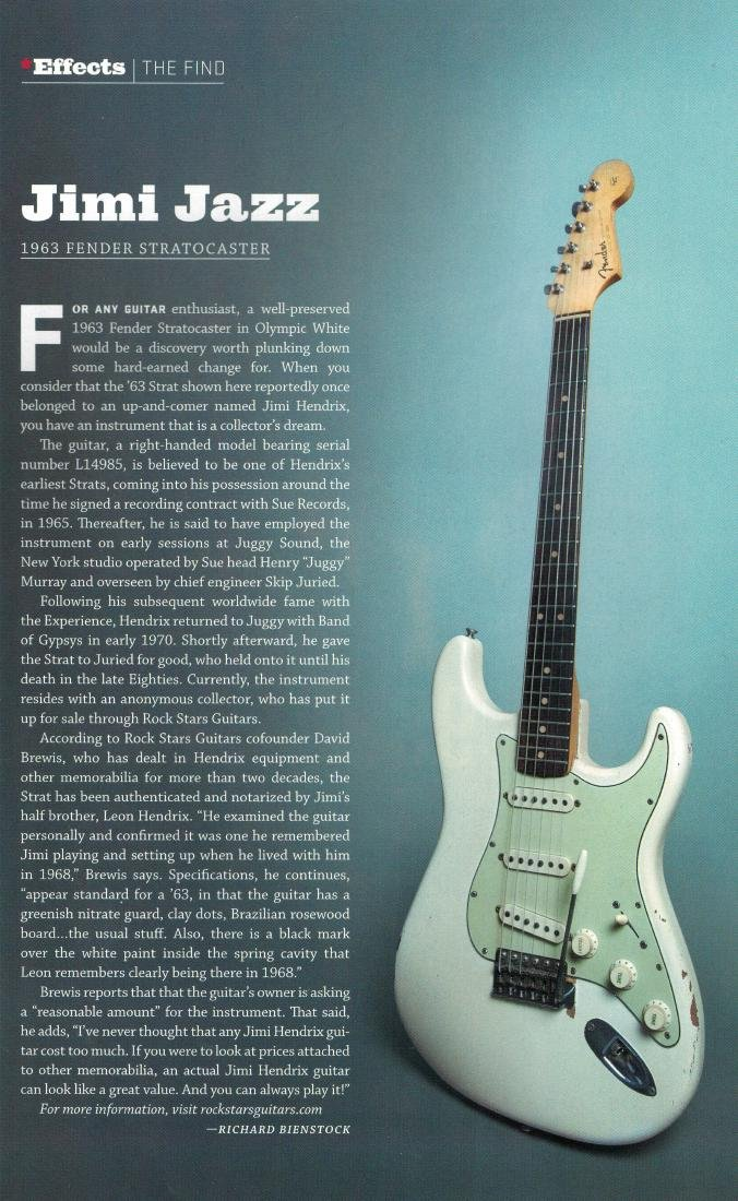 Jimi Hendrix's 1963 Fender Stratocaster - 4