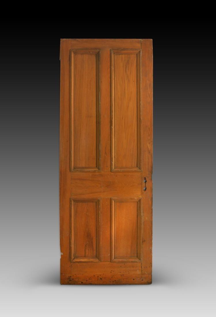 Chelsea Hotel Door, Rich Amber Colored Wood