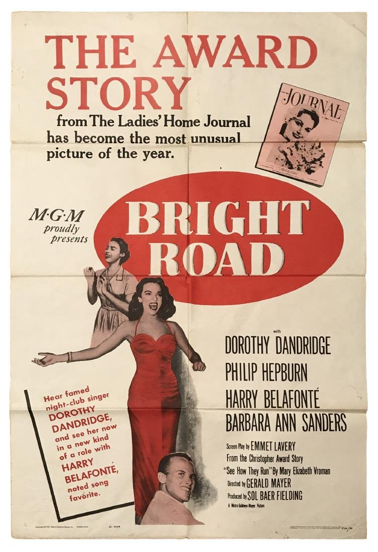 Bright Road Poster c.1961 (Later Version)