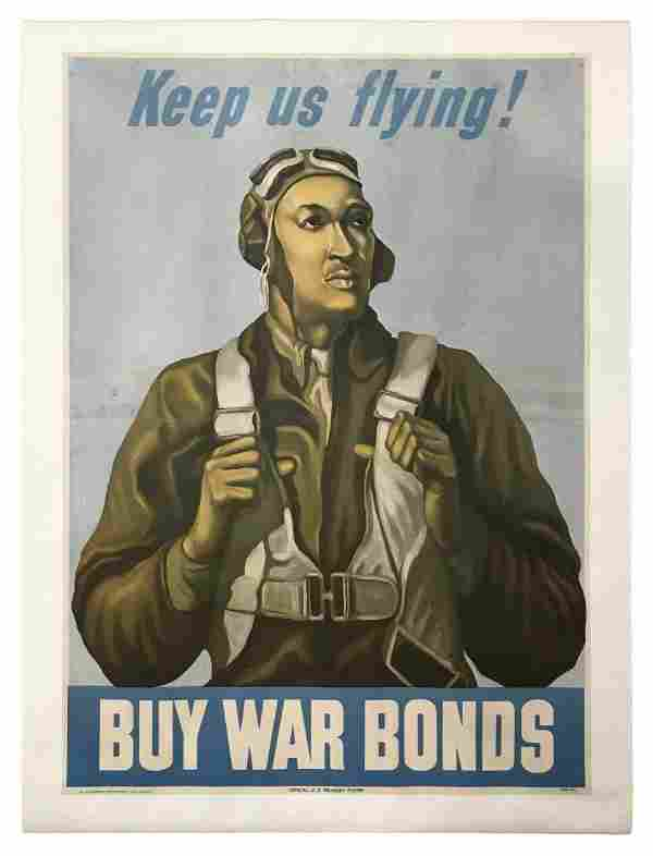 Keep Us Flying! Buy War Bonds Poster c.1943