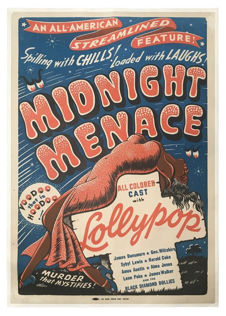 Midnight Menace Movie Poster, 1946