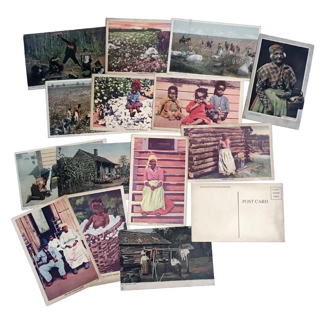 Set of 15 Vintage Slavery Related Postcards