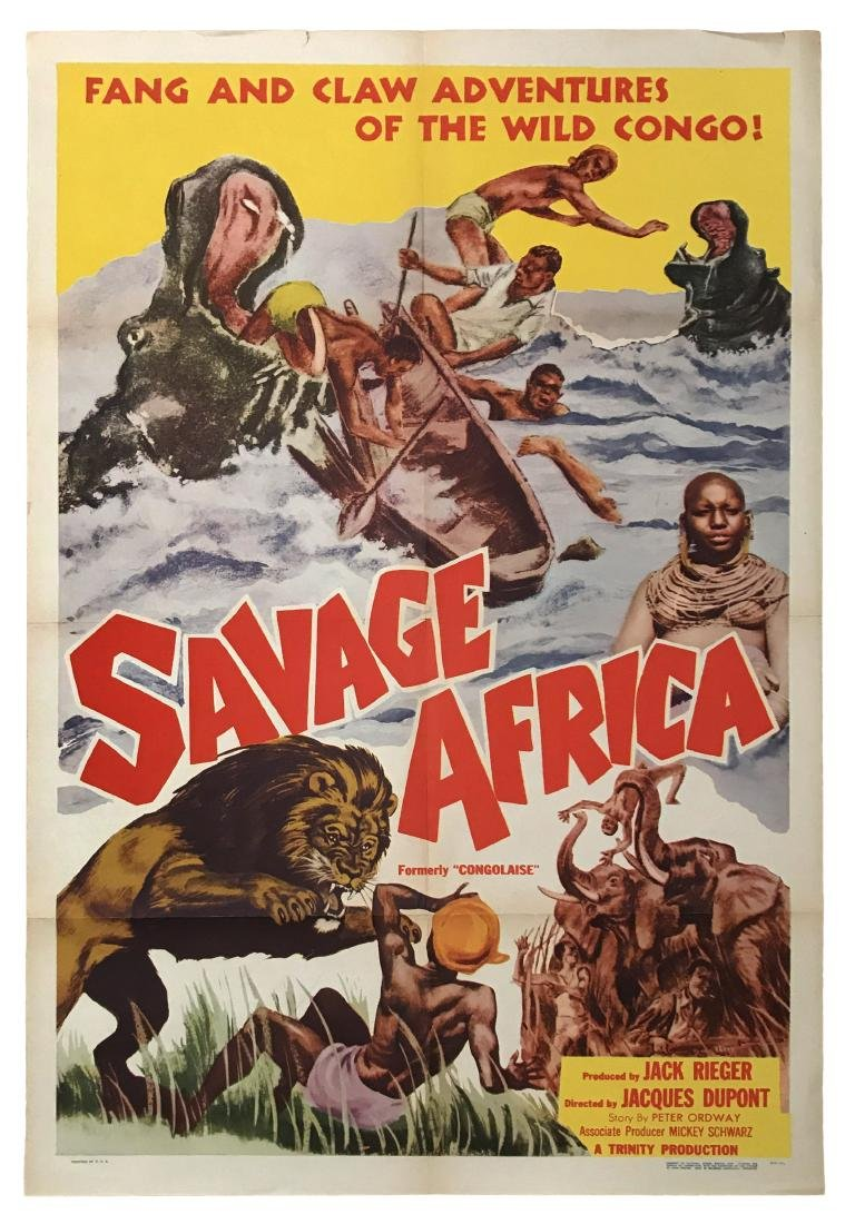 Savage Africa Movie Poster, 1952