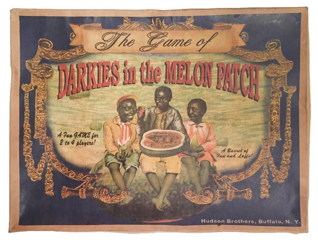 """""""Darkies in the Melon Patch"""" board game"""