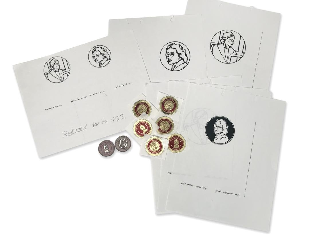 Rosa Parks Commemorative Seal with Sketches
